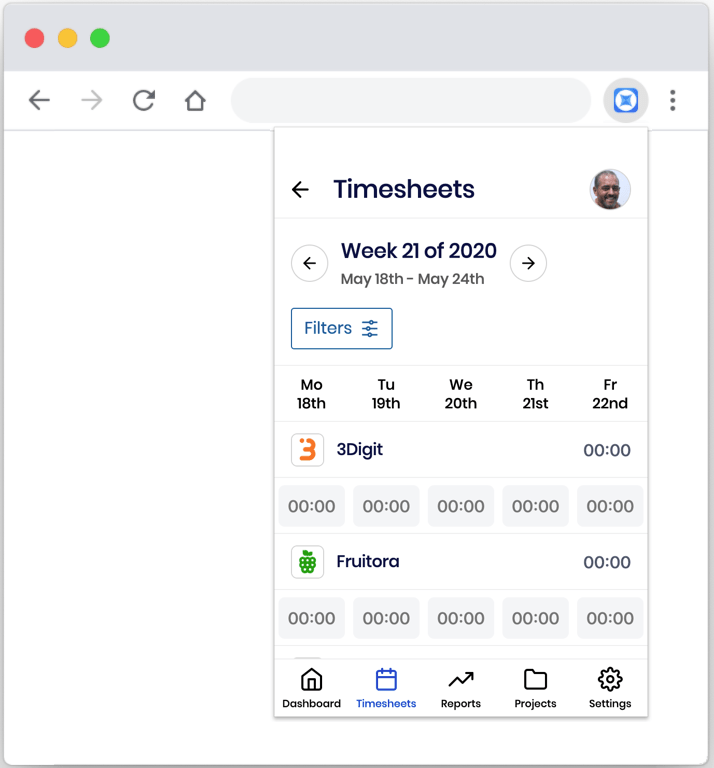 Sandtime.io - Timesheets - free time tracking browser extension